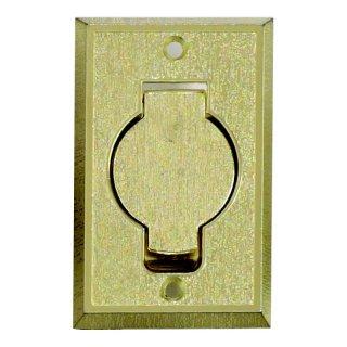 Prise métal rectangulaire - porte ronde - Or