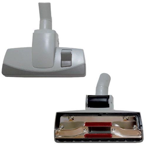 Brosse combinée 28.5 cm bicolore avec pédale à roulette