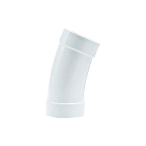 Coude long PVC 22.5 ° pour flexible rétractable