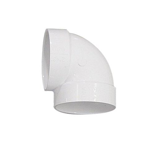 Coude ultra court PVC 90° FF Asymétrique