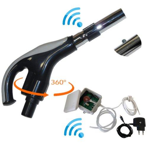 Poignée et recepteur radio pour flexible rétractable