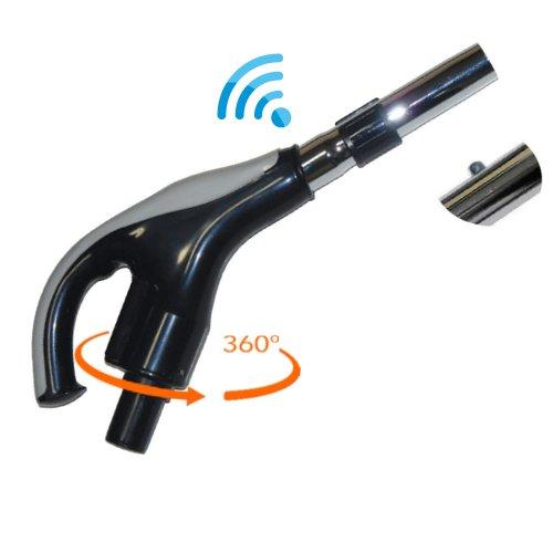 Poignée radio ergonomique pour flexible rétractable