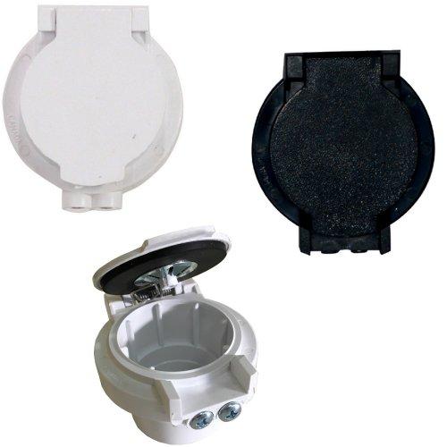 Prise de service plastique avec contacts pour garage, atelier ou annexes.