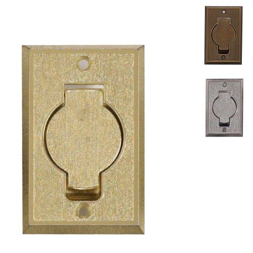 Prise métal rectangle porte ronde rustique