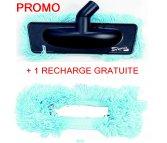 Brosse spécial parquet à frange bleue + recharge gratuite